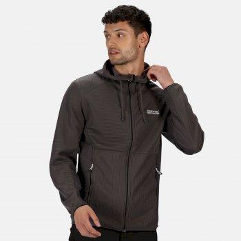 Men's Terota Full Zip Hooded Stretch Midlayer Magnet Grey
