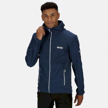 Men's Terota Lightweight Full Zip Hooded Fleece Dark Denim