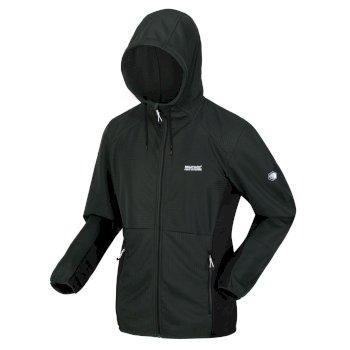 Men's Terota Lightweight Full Zip Hooded Fleece Deep Forest Black