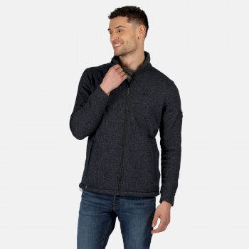 Men's Gavriel Full Zip Marl Fleece Navy