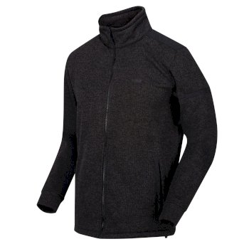Men's Gavriel Full Zip Marl Fleece Black