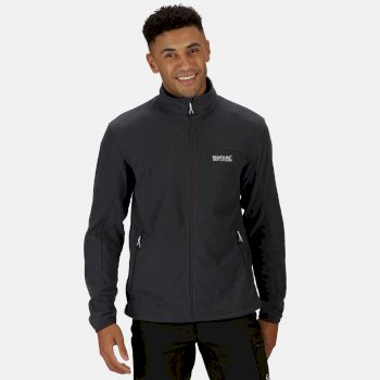 Men's Stanner Full Zip Lightweight Grid Fleece Seal Grey