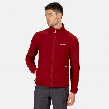 Men's Stanner Full Zip Lightweight Grid Fleece Delhi Red