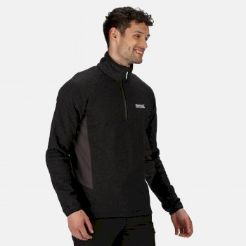 Men's Highton Stretch Lightweight Half Zip Fleece Black Magnet