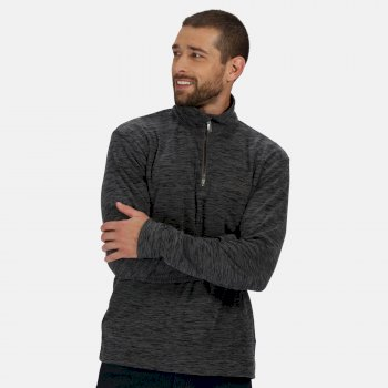 Men's Elgor II Lightweight Half Zip Fleece Seal Grey