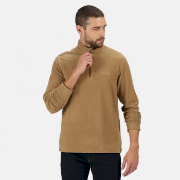 Men's Elgor II Lightweight Half Zip Fleece Dark Camel