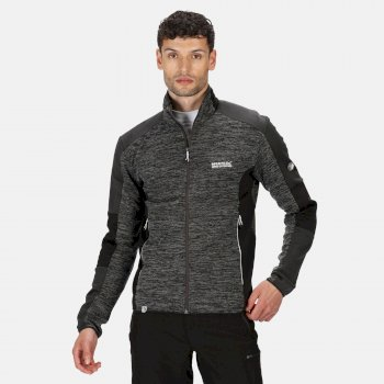 Men's Coladane Full Zip Marl Walking Fleece Ash Black