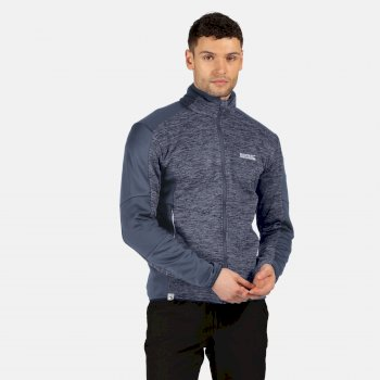Men's Coladane Full Zip Marl Walking Fleece Brunswick Blue