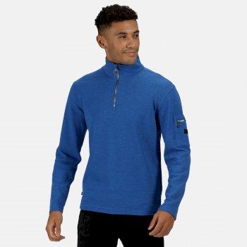 Men's Tavior Half Zip Coolweave Fleece Nautical Blue