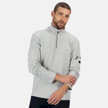 Men's Tavior Half Zip Coolweave Fleece Light Steel