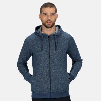 Men's Leontel Full Zip Hooded Marl Fleece Dark Denim Marl