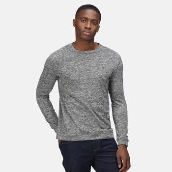 Men's Leith Crew Neck Sweatshirt Storm Grey Marl