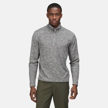 Men's Edley Half Zip Fleece Storm Grey Black Marl