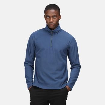 Men's Edley Half Zip Fleece Dark Denim Rib
