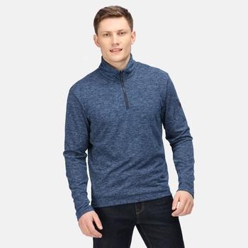 Men's Edley Half Zip Fleece Navy Black Marl