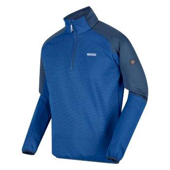 RMA464_S79: Mens Highton II Lightweight Half Zip Fleece Nautical Blue Dark Denim