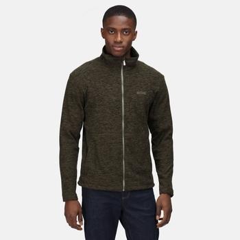 Men's Eildon Full Zip Fleece Dark Khaki Black Marl