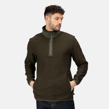 Men's Celestin Half Zip Fleece Dark Khaki