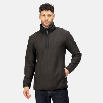 Men's Celestin Half Zip Fleece Ash Black