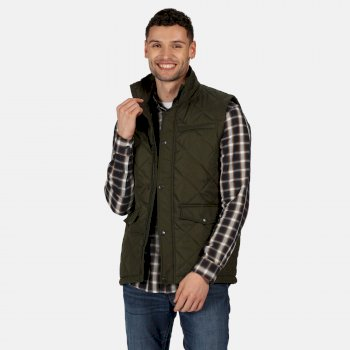 Men's Locke Insulated Diamond Quilted Bodywarmer Dark Khaki