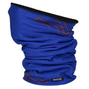 Adults Fleece Lined Stretch Multitube II Scarf Mask Oxford Blue