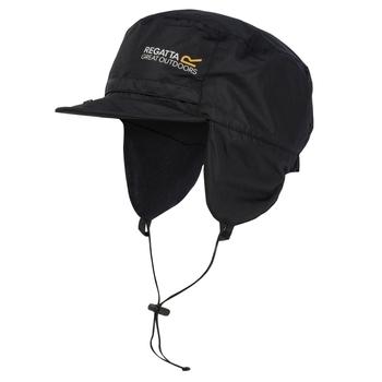 Men's Padded Igniter Waterproof Trapper Hat Black