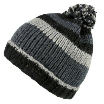 Men's Davion Knitted Pom Pom Hat Black Multi
