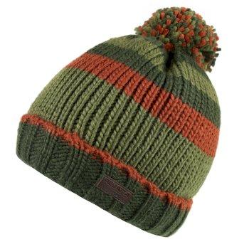 Davion Knitted Pom Pom Hat Bayleaf Multi