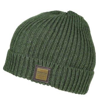 Harrell Chunky Marl Yarn Knit Hat Dark Khaki