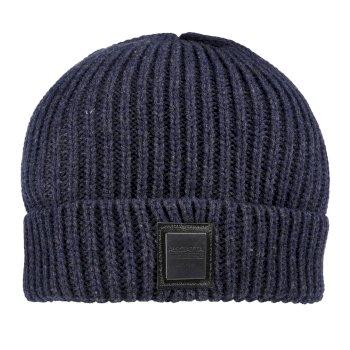 Harrell Chunky Marl Yarn Knit Hat Navy