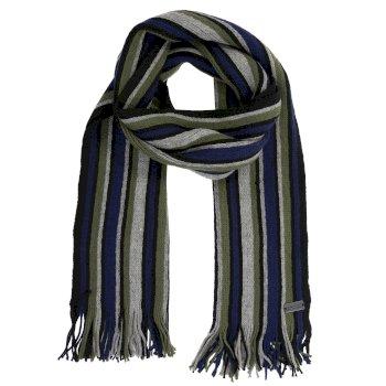 Men's Balton Acrylic Knit Scarf Black Stripe