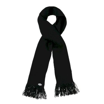Men's Balton Acrylic Knit Scarf Black