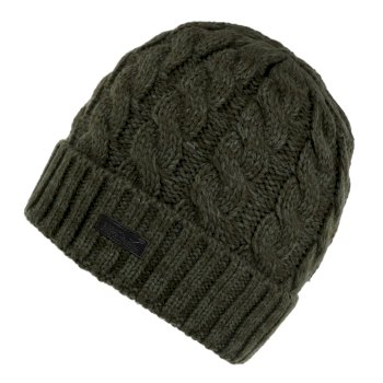 Men's Harrel III Fleece Lined Cable Knit Hat Dark Khaki