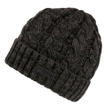 Men's Harrel III Fleece Lined Cable Knit Hat Black