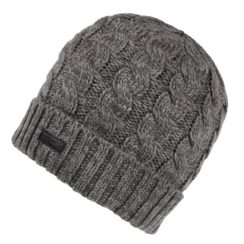 Men's Harrel III Fleece Lined Cable Knit Hat Asteroid