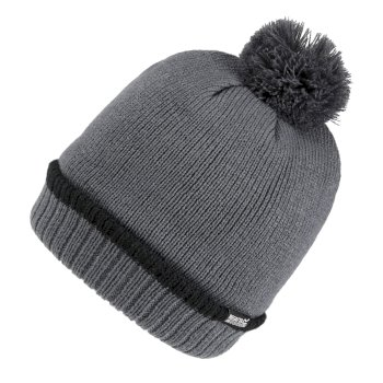 Men's Davion III Fleece Lined Bobble Hat Asteroid Black