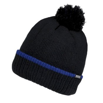 Men's Davion III Fleece Lined Bobble Hat Black Briar Royal