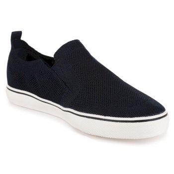 Men's Knitted Slip On Shoes Navy