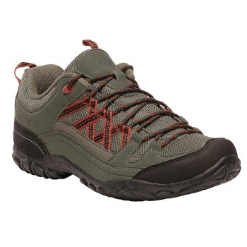 Men's Edgepoint II Low Walking Shoes Ivy Green Burnt Tikka