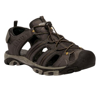 Męskie sandały z zakrytymi palcami Westshore Ciemne złoto