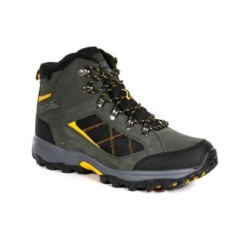 Men's Clydebank Walking Boots Dark Khaki Gold