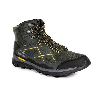 Men's Kota Mid Walking Boots Dark Khaki Gold