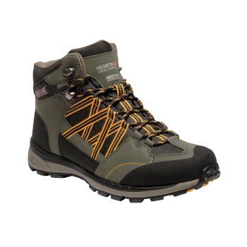 Men's Samaris II Mid Waterproof Walking Boots Dark Khaki Gold