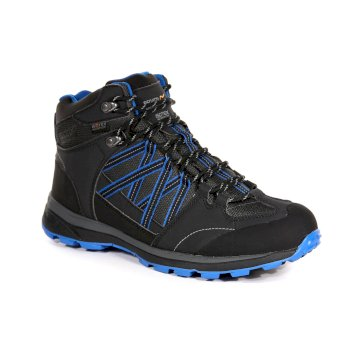 Men's Samaris II Mid Waterproof Walking Boots Ash Oxford Blue