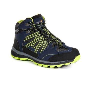 Men's Samaris II Mid Walking Boots Navy Lime Green