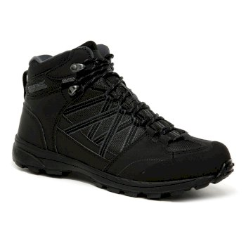 Men's Samaris II Waterproof Walking Boots Black Granite