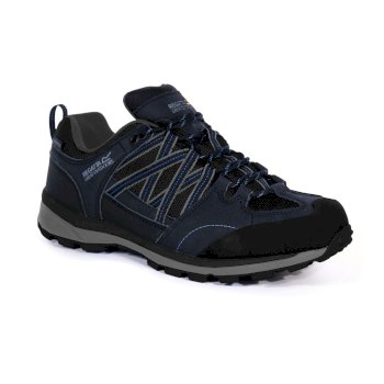 Men's Samaris II Waterproof Low Walking Shoes  Navy Nautical Blue
