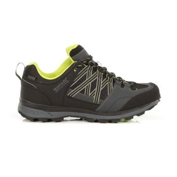 Men's Samaris II Waterproof Low Walking Shoes  Black Lime Punch