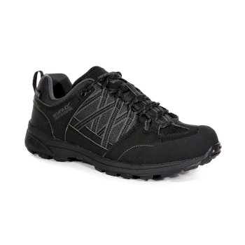 Men's Samaris II Low Waterproof Walking Shoes  Black Granite
