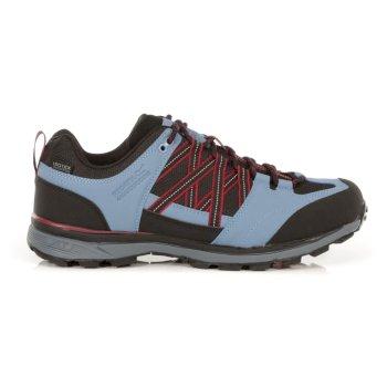 Men's Samaris II Waterproof Low Walking Shoes  Blue Shadow Dark Red